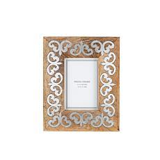 "The Gerson Company Mango Wood w/Metal Inlay 4"" x 6"" Heritage Frame"