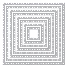 The Stamps of Life Dotted Squares Die Set