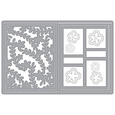 The Stamps of Life Flower Vine and Grid A2 Card Base Die Set