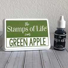 The Stamps of Life Ink Pad and Refill - Green Apple