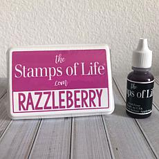 The Stamps of Life Ink Pad and Refill - Razzleberry