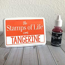 The Stamps of Life Ink Pad and Refill - Tangerine