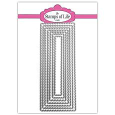 The Stamps of Life Slimline Scalloped Rectangle Die Set