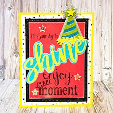 The Stamps of Life Statement Cursive Shine Stamp and Die Combo Pack