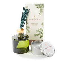 Thymes Frasier Fir Petite Diffuser Vase Set and Candle