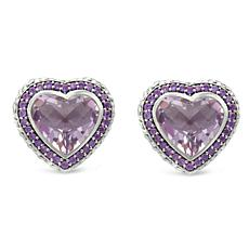 Tiffany Kay Studio Amethyst Purl Knit Heart Stud Earrings