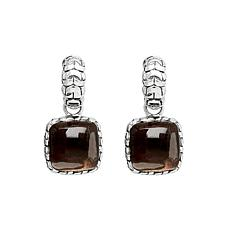 Tiffany Kay Studio Sterling Silver Smoky Quartz Purl Knit Earrings