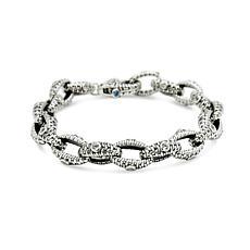 Tiffany Kay Studio Sterling Silver White Topaz Purl Knit Link Brace...