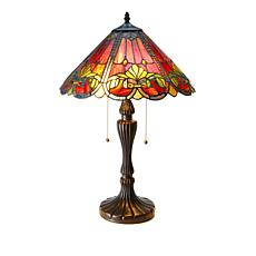 Tiffany-Style Art Nouveau Art Glass Table Lamp
