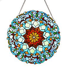 Tiffany-Style Majestic Marble Stained Glass Window Panel