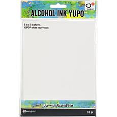 "Tim Holtz Alcohol Ink 5"" x 7"" White Yupo Paper 144lb 10-pack"