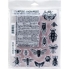 "Tim Holtz Cling Stamps 7"" x 8.5"" - Entomology"