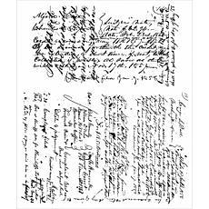 "Tim Holtz Cling Stamps 7"" x 8.5"" - Ledger Script"