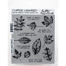 "Tim Holtz Cling Stamps 7"" x 8.5"" - Nature's Wonder"