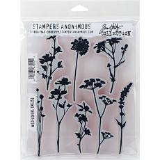 "Tim Holtz Cling Stamps 7"" x 8.5"" - Wildflowers"