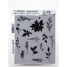 "Tim Holtz Cling Stamps 7"" x 8.5"" - Winter Watercolor"