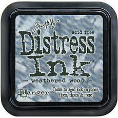 Tim Holtz Distress Ink Stamp Pad - Weathered Wood