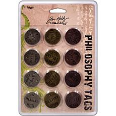 Tim Holtz Idea-Ology Philosophy Tags - Set of 12