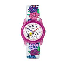 Timex Kid's Peanuts Snoopy Flower Strap Watch