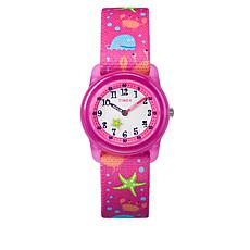 Timex Kid's Starfish, Crab and Octopus Pink Strap Watch