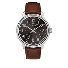Timex Men's Basics Tan Leather Strap Watch