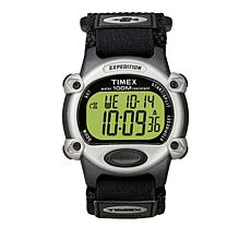 Timex Men's Expedition Digital Chronograph Black Fabric Strap Watch
