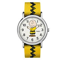 Timex Peanuts Charlie Brown Moving Hands Yellow Watch