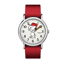 Timex Peanuts Snoopy Moving Hands Red Strap Watch