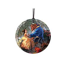 TK Disney Glass Hanging Print - Beauty and The Beast - Stained Glass