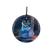 TK Disney Glass Hanging Print - Cinderella Dancing, Stained Glass
