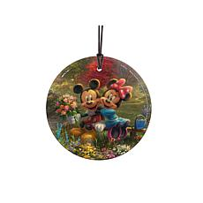 TK Disney Mickey and Minnie Central Park Hanging Glass StarFire Print