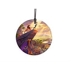 TK Disney StarFire Prints Hanging Glass Tree/Window Ornament-Lion King