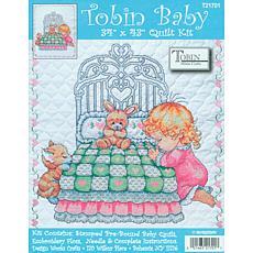 "Tobin Bedtime Prayer Girl Cross-Stitch Kit - 34"" x 43"""