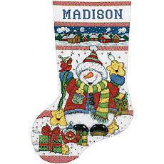 Tobin Snowman Fun Stocking Counted Cross Stitch Kit