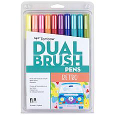 Tombow Dual Brush Pen Set 10-pack - Retro