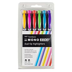 Tombow MONO Edge Highlighters 6-pack
