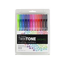 Tombow TwinTone Dual-Tip Marker 12-pack - Brights