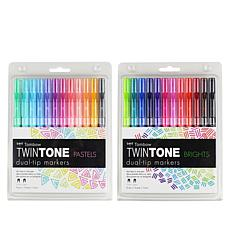 Tombow TwinTone Dual-Tip Markers 24-pack