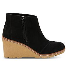 TOMS Avery Creped Wedge Bootie