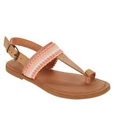 TOMS Bree Leather Toe-Loop Sandal