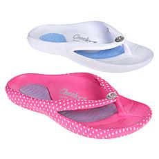 Tony Little Cheeks® 2-pack Toe-Post Health Sandal