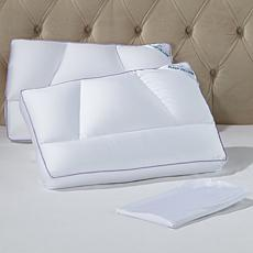 Tony Little DeStress® Micropedic Pillow 2-pack w/2 Pillowcases - Full