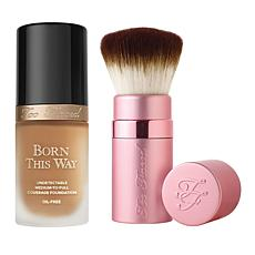 Too Faced Warm Sand Forever Flawless Foundation and Brush Set