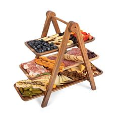 Toscana by Picnic Time Serving Ladder (Acacia Wood)