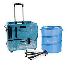Totally-Tiffany Rolling Craft Crate with Buddy Bags and Scrap Can