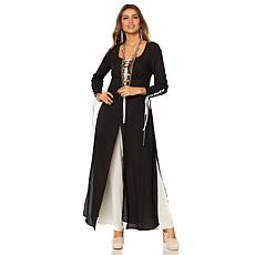Touch of Cyn by Cyndi Lauper Jumpsuit with Lace-Up Trim