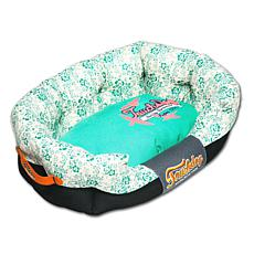 Touchdog Floral-Galore Rectangular Rounded Designer Dog Bed - Medium