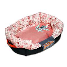 Touchdog Floral-Galore Rectangular Rounded Designer Dog Bed - Large