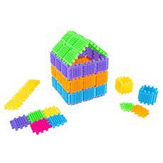 Toy Time Brush Shape Building Set - 182 Individual Tile Pieces