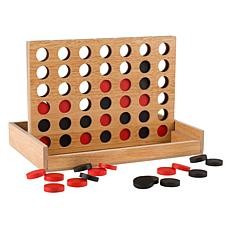 Toy Time Classic Wooden Four in a Row Game